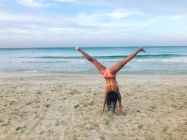 Loving the beach at playa Santa Maria